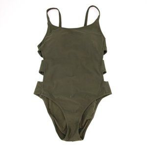 NWOT Green Mossimo Side Cutout One Piece L